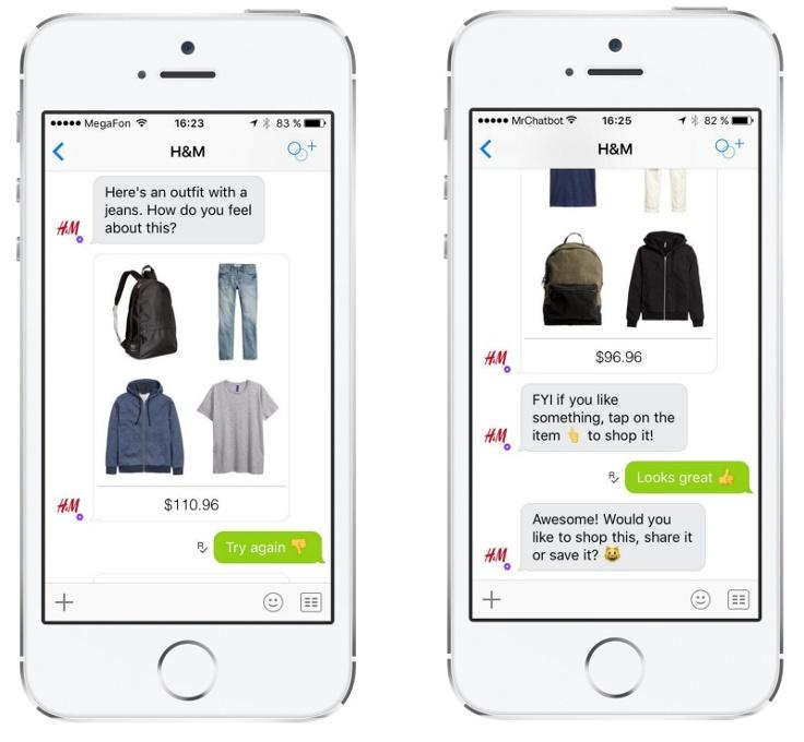H&M chatbot