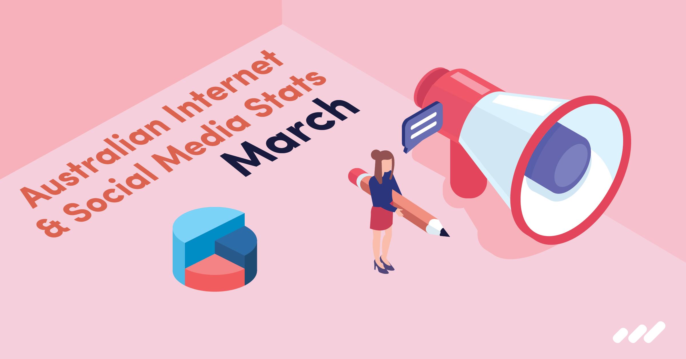 Australian Internet Social Media Stats March