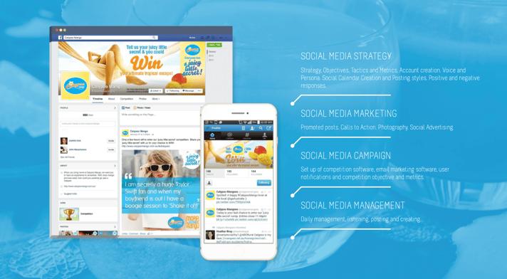 Calypso Mango Social Media