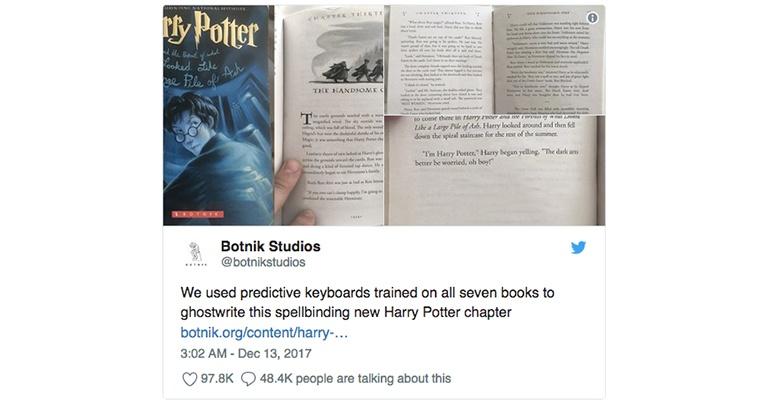 Harry Potter book writen by an AI
