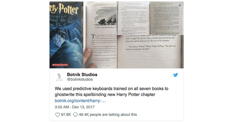 Harry Potter book writen by an AI
