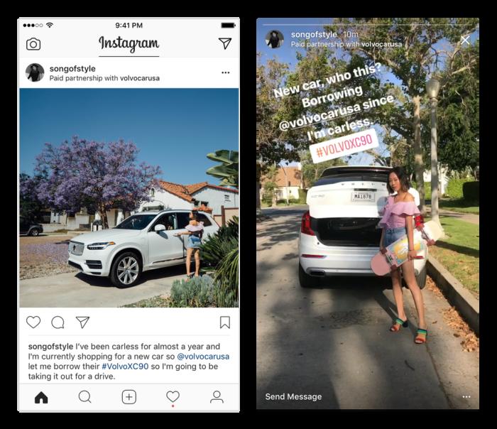 instagram paid partnerships