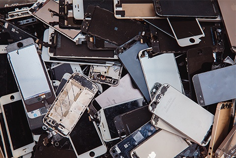 Recyclable iphone parts