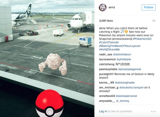 air new zealand social media pokemon