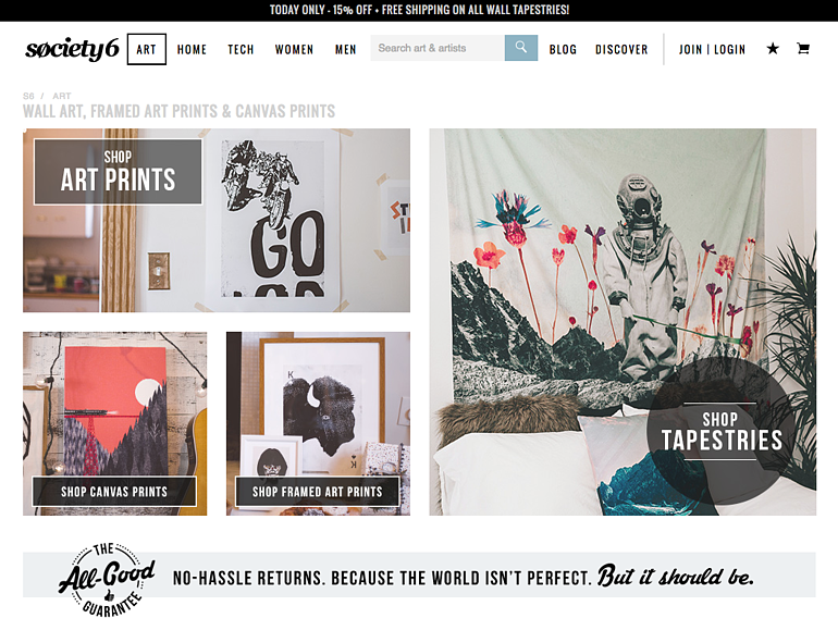 website design society6