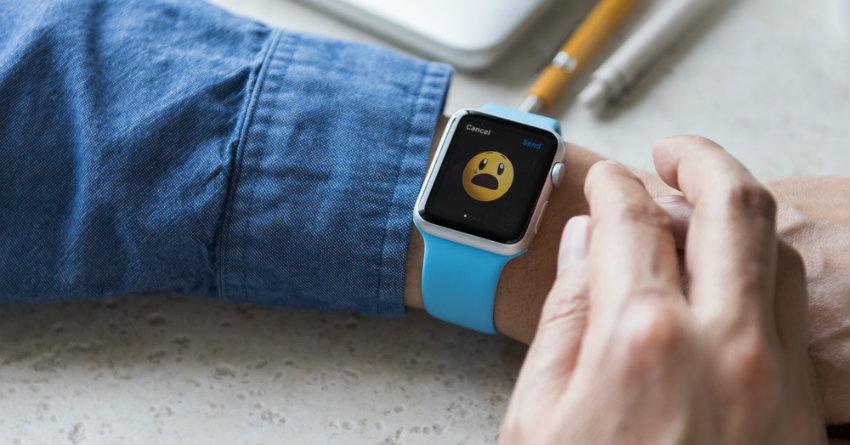 Apple Watch emoji on screen