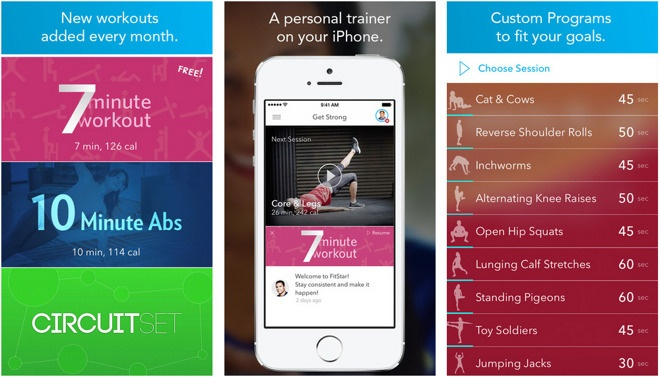 fitness apps fitstar