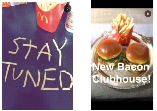 McDonalds snapchat burgers